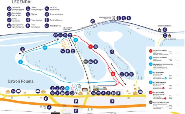 czantoria mapa
